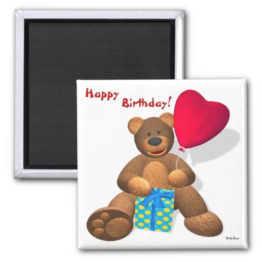 Dinky Bären: Alles Gute zum Geburtstag! Quadratischer Magnet