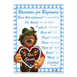 Dinky Bären bayerisch für Anfänger 12,7 X 17,8 Cm Einladungskarte