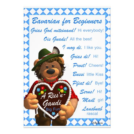 Dinky Bären bayerisch für Anfänger Ankündigungen