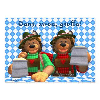 Dinky Bären bayerische Oktoberfest Bären 12,7 X 17,8 Cm Einladungskarte