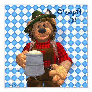 Dinky Bären bayerischer Oktoberfest Bär Quadratische 13,3 Cm Einladungskarte
