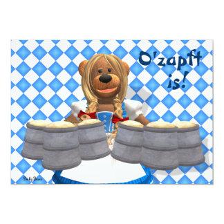 Dinky Bären bayerisches Oktoberfest Zenzi 12,7 X 17,8 Cm Einladungskarte
