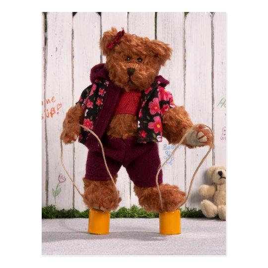 Dinky Bären: Blechdose-Läufer Postkarte