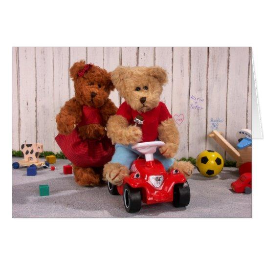 Dinky Bären: Bruder und Schwester Karte