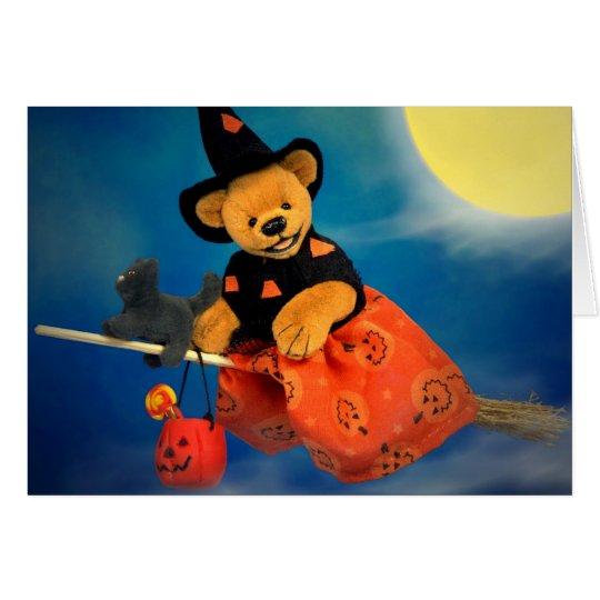 Dinky Bären, die Hexe fliegen Karte