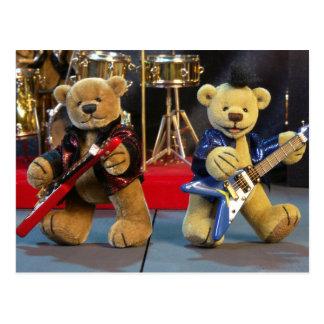 Dinky Bären im Konzert Postkarten