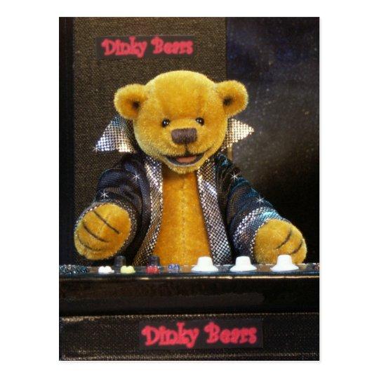 Dinky Bären Keyboarder Postkarte