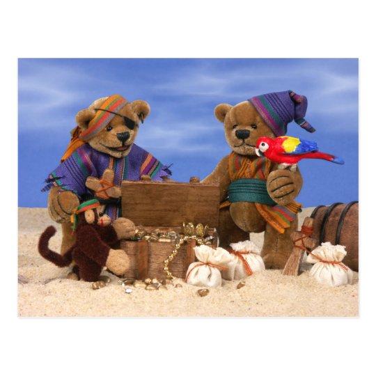 Dinky Bären: Kleine Piraten Postkarte