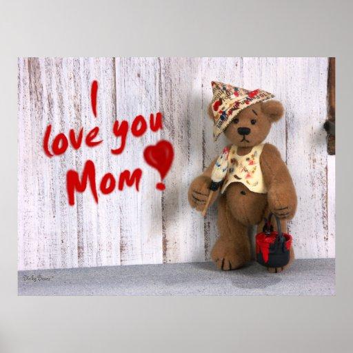 Dinky Bären: Liebe I Sie Mamma Poster