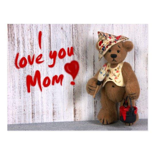 Dinky Bären: Liebe I Sie Mamma Postkarte