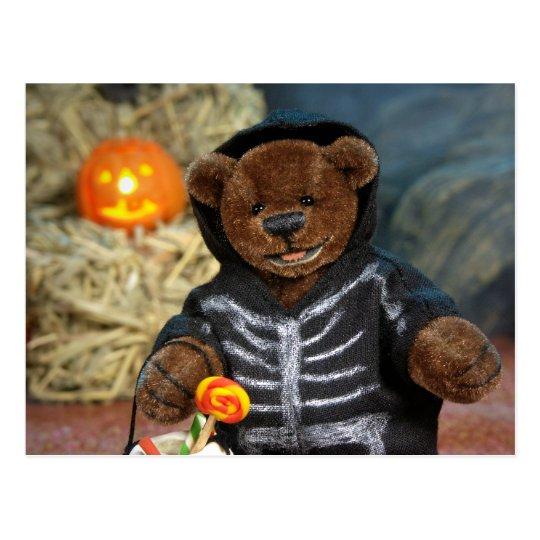 Dinky Bären wenig Skelett Postkarte
