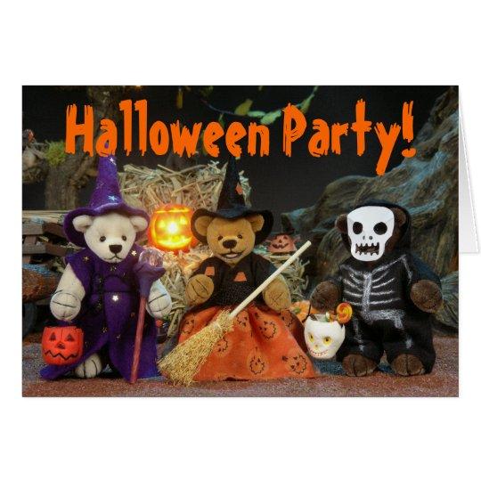 Dinky Bärn-Halloween-Party Karte