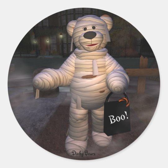 Dinky Bärn-kleine Mama Runder Aufkleber