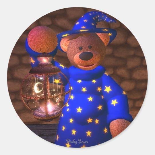 Dinky Bärn-kleiner Zauberer Runder Aufkleber
