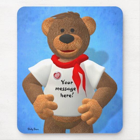 Dinky Bärn-Mitteilung auf einem T - Shirt Mauspad