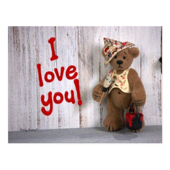 Dinky Bears: Love Postkarte