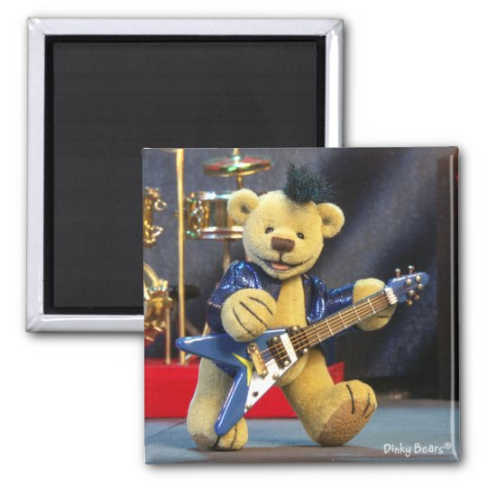 Dinky Bears: Rockstar Quadratischer Magnet