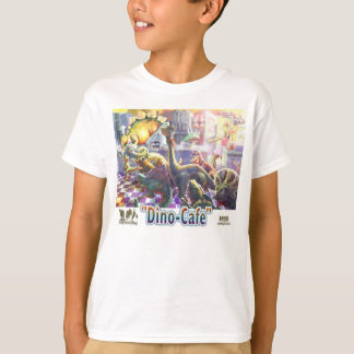 Dino-Café-Dinosauriermittagessen Linie T-Shirt