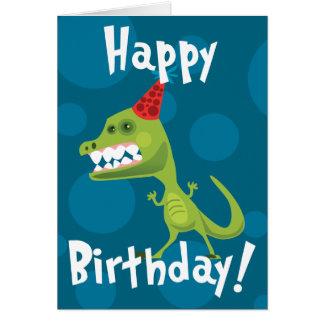 Dino-Geburtstags-Karte Karte