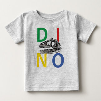 DINO - Heide-grauer Baby-Geldstrafe-Jersey-T - Baby T-shirt