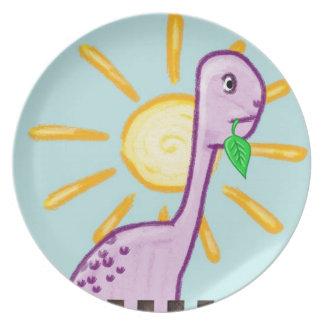 Dino-Kinder - Platte Party Teller