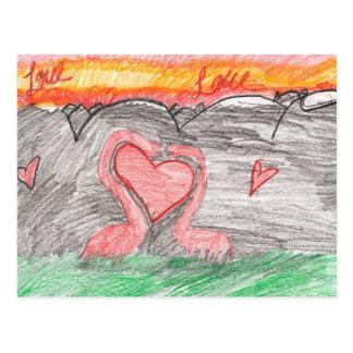 Dino-Liebe Postkarte