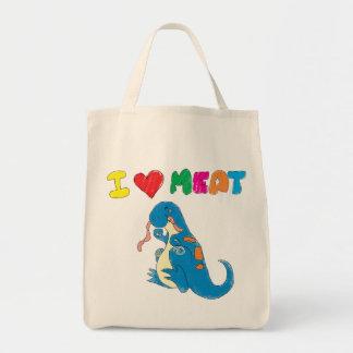 Dino-Liebefleisch-Lebensmittelgeschäft-Tasche Tragetasche