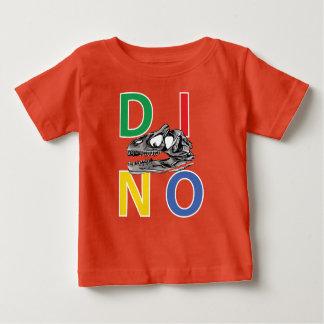 DINO - orange Baby-Geldstrafe-Jersey-T - Shirt