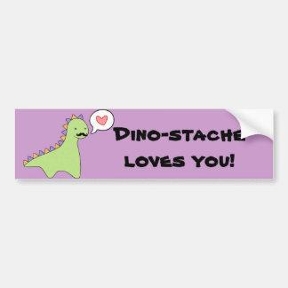 """""""Dino-stache"""" niedlicher Dinosaurier-Schnurrbart Autoaufkleber"""