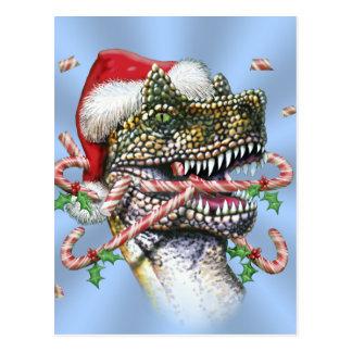Dino-Weihnachten Postkarte