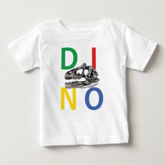 DINO - weißer Baby-Geldstrafe-Jersey-T - Shirt
