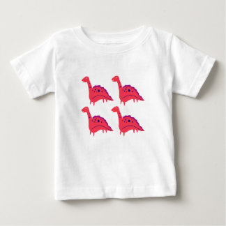 DINOS ROT. Wunderbare dinos Gruppe Baby T-shirt