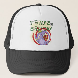 Dinosaurier-2. Geburtstags-T-Shirts und Geschenke Truckerkappe