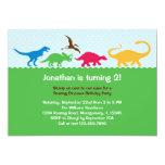 Dinosaurier-Ansturm-Geburtstags-Party Einladung