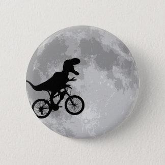 Dinosaurier auf einem Fahrrad im Himmel mit Runder Button 5,1 Cm