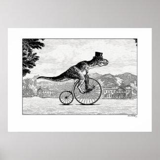 Dinosaurier auf Fahrrädern - T-Rex