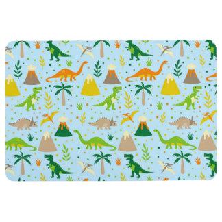 Dinosaurier-blaues Grün-orange Boden-Matte Bodenmatte