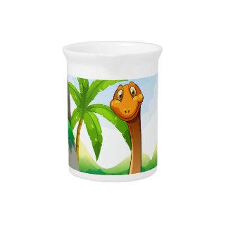 Dinosaurier, der im Dschungel lebt Krug