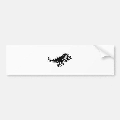 Dinosaurier, der Jesus-Fische isst Auto Sticker