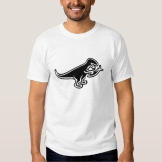 Dinosaurier, der Jesus-Fische isst T Shirt