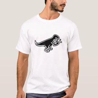 Dinosaurier, der Jesus-Fische isst T-Shirt
