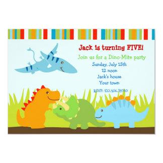 Dinosaurier-Dino-Foto-Geburtstags-Party 12,7 X 17,8 Cm Einladungskarte