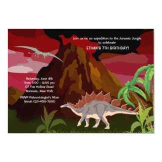 Dinosaurier-Einladung 12,7 X 17,8 Cm Einladungskarte