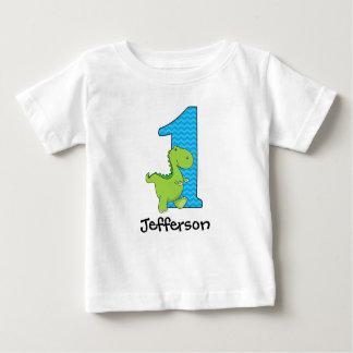 Dinosaurier-erstes Geburtstags-T-Shirt Baby T-shirt