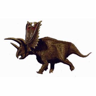 Dinosaurier-Foto-Skulptur Pentaceratops 1 Greg Freistehende Fotoskulptur
