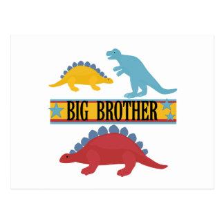 Dinosaurier-großer Bruder Postkarte