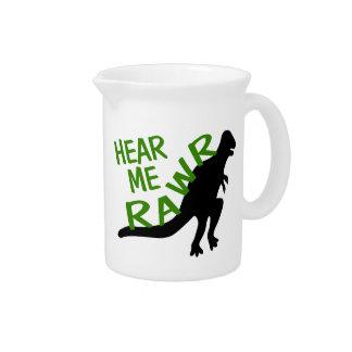 Dinosaurier hören mich Rawr Krug