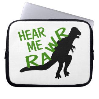 Dinosaurier hören mich Rawr Laptop Sleeve