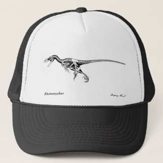 Dinosaurier-Hut Deinonychus skeleton Gregory Paul Truckerkappe