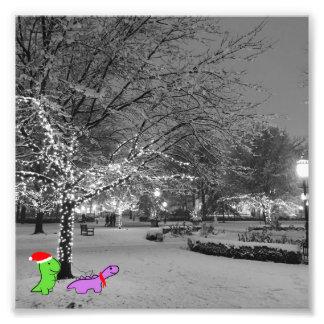Dinosaurier im Schnee, Universität von Chicago Fotodruck